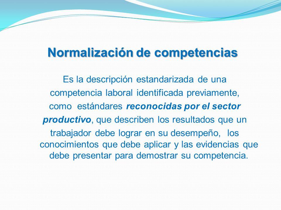 Normalización de competencias