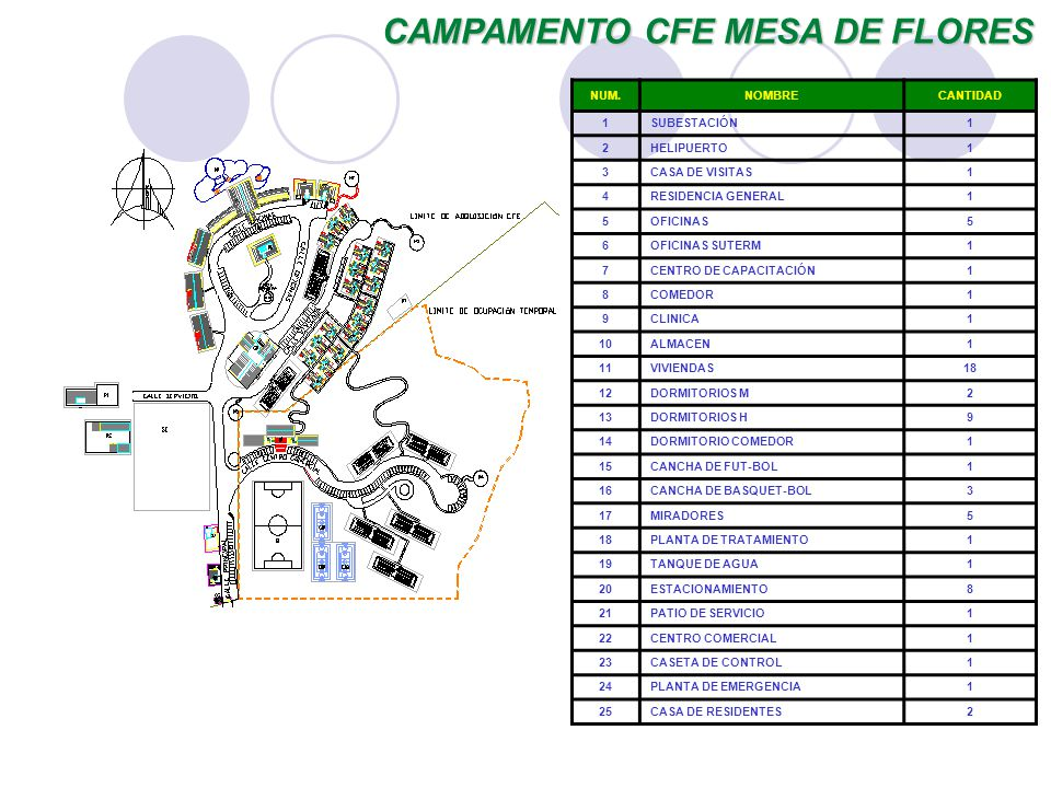CAMPAMENTO CFE MESA DE FLORES