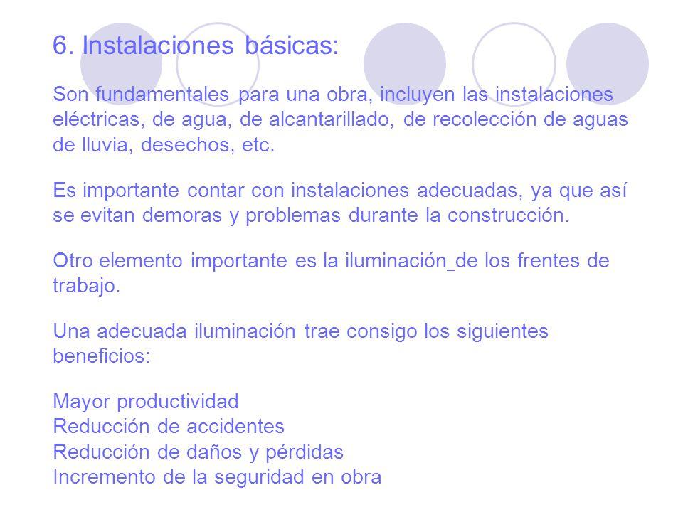 6. Instalaciones básicas: