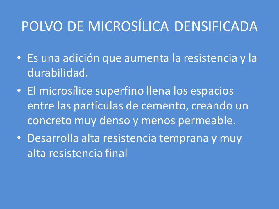 POLVO DE MICROSÍLICA DENSIFICADA