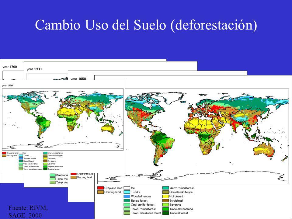 Cambio Uso del Suelo (deforestación)
