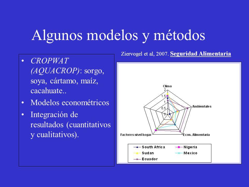 Algunos modelos y métodos