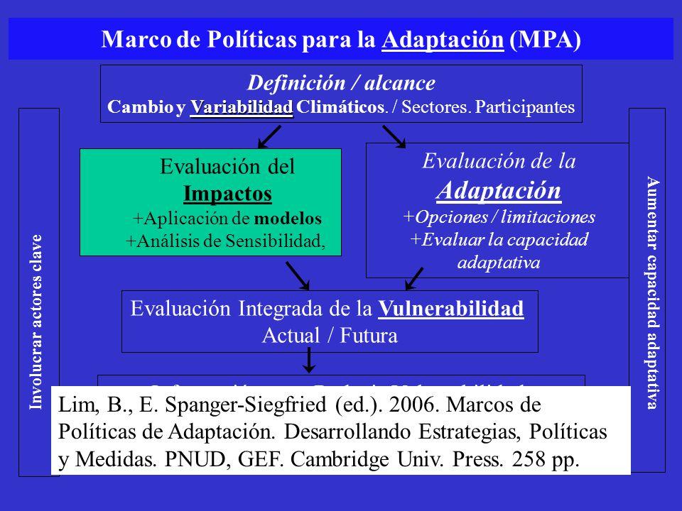 Adaptación Marco de Políticas para la Adaptación (MPA)