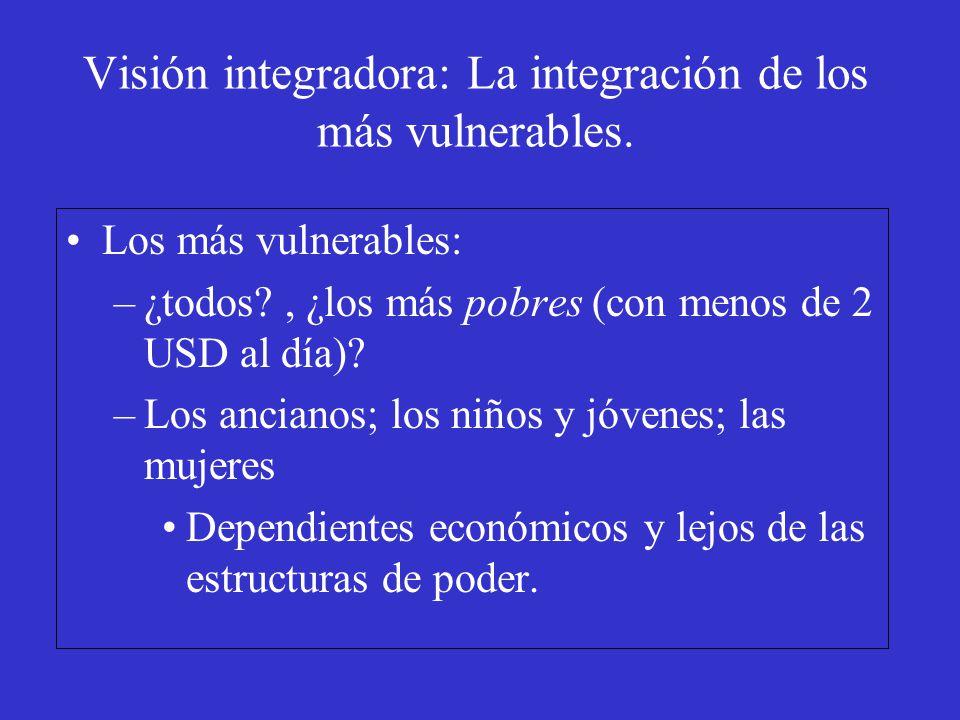 Visión integradora: La integración de los más vulnerables.