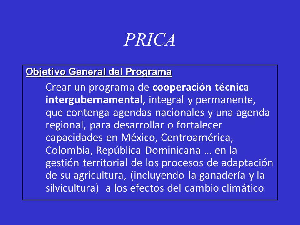 PRICA Objetivo General del Programa