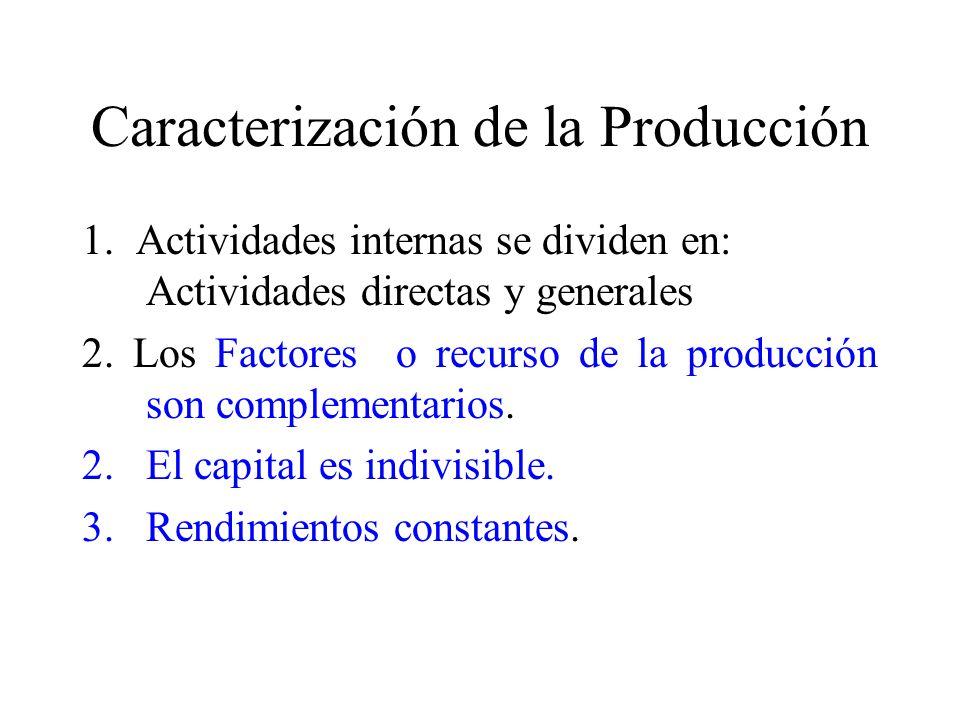 Caracterización de la Producción