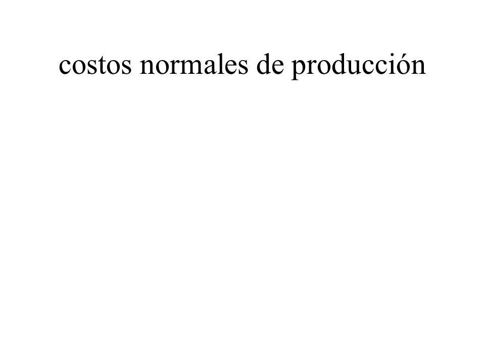 costos normales de producción