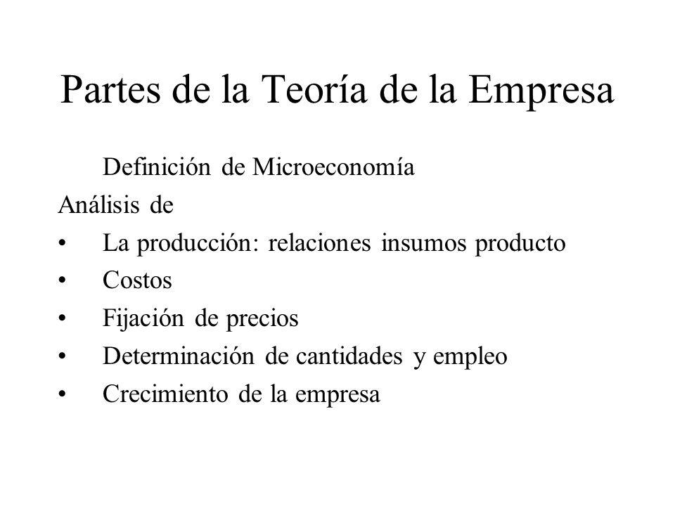 Partes de la Teoría de la Empresa