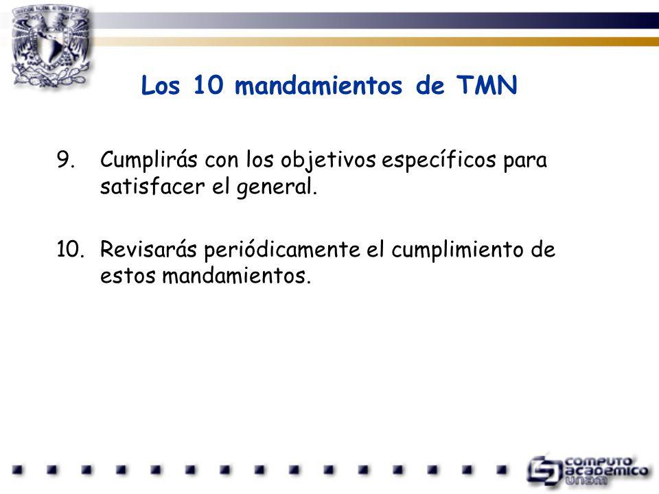 Los 10 mandamientos de TMN