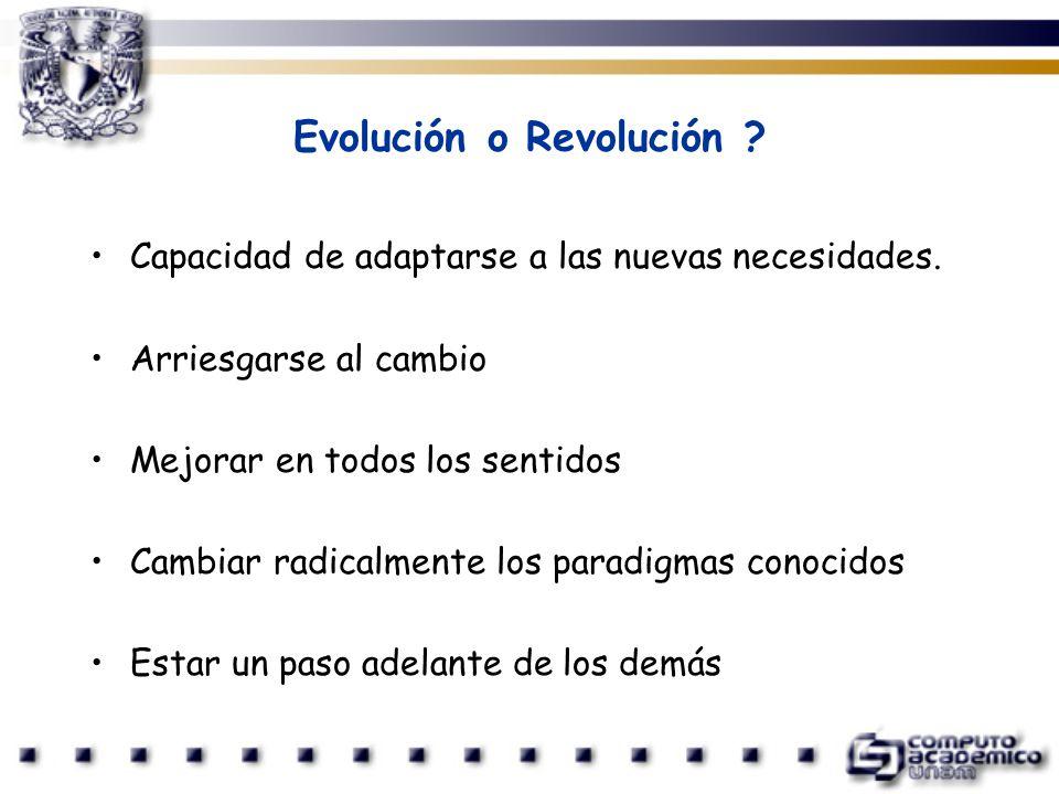 Evolución o Revolución