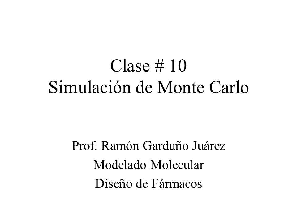 Clase # 10 Simulación de Monte Carlo