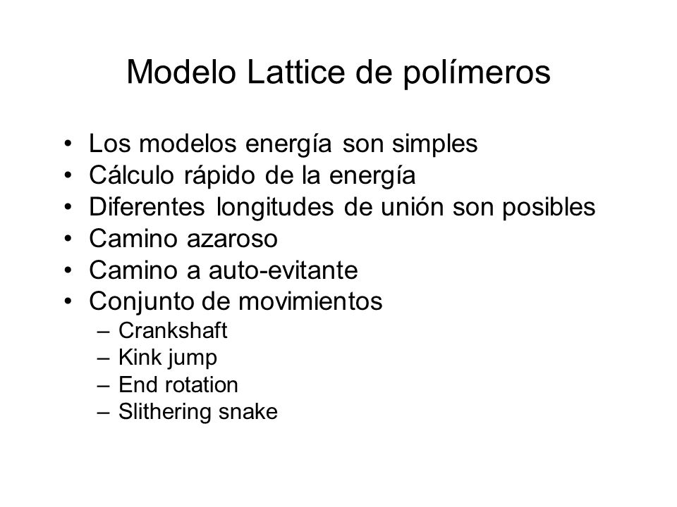 Modelo Lattice de polímeros