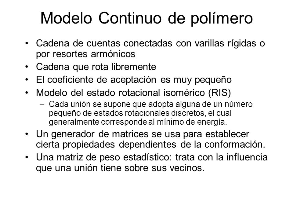 Modelo Continuo de polímero