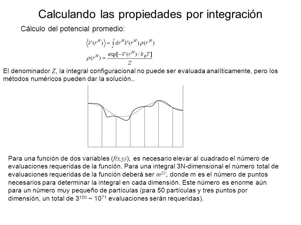 Calculando las propiedades por integración