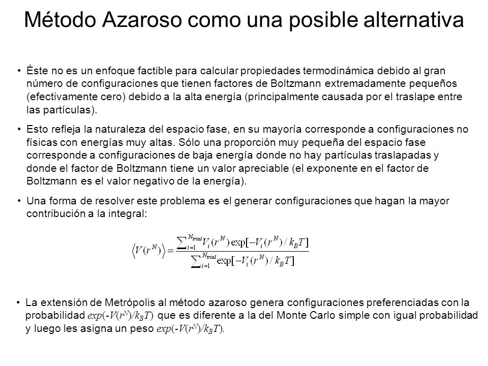 Método Azaroso como una posible alternativa