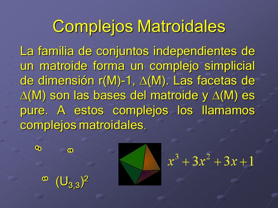 Complejos Matroidales