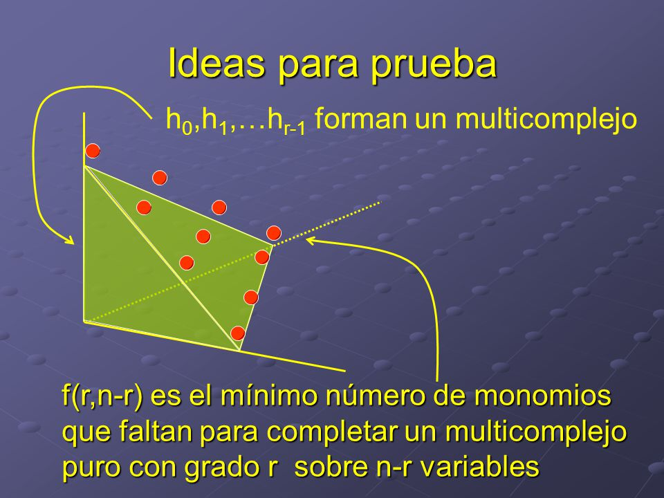 Ideas para prueba h0,h1,…hr-1 forman un multicomplejo