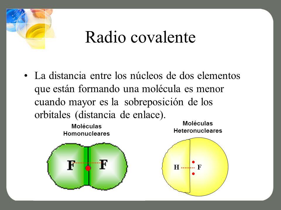 Moléculas Heteronucleares Moléculas Homonucleares
