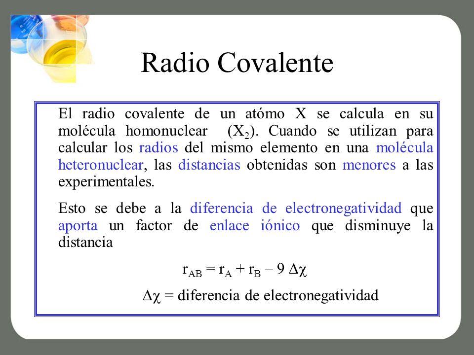  = diferencia de electronegatividad