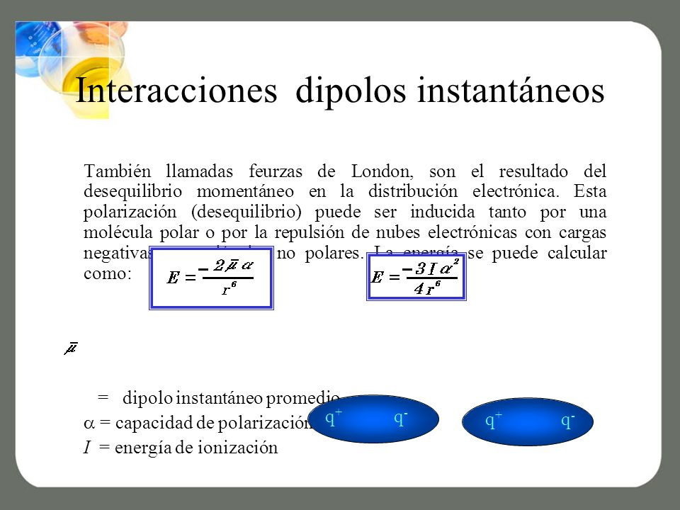 Interacciones dipolos instantáneos
