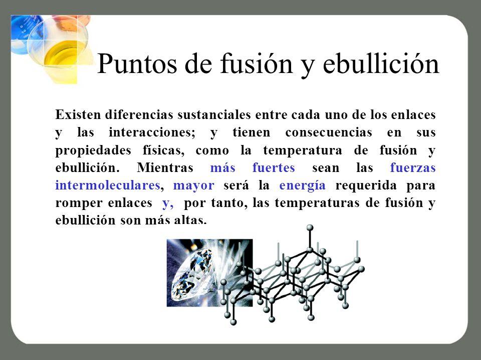 Puntos de fusión y ebullición
