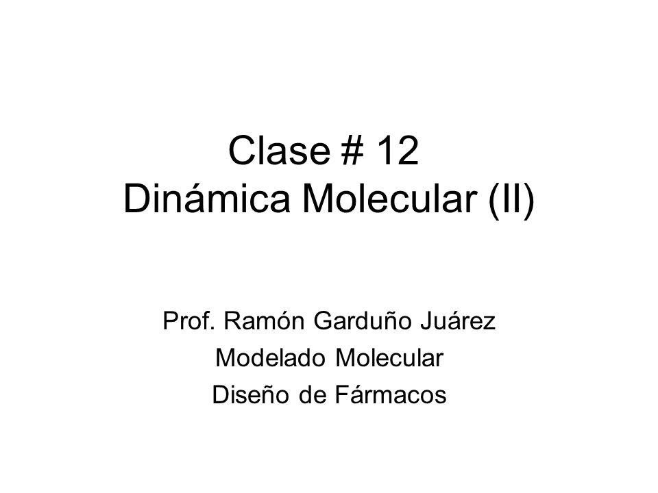 Clase # 12 Dinámica Molecular (II)