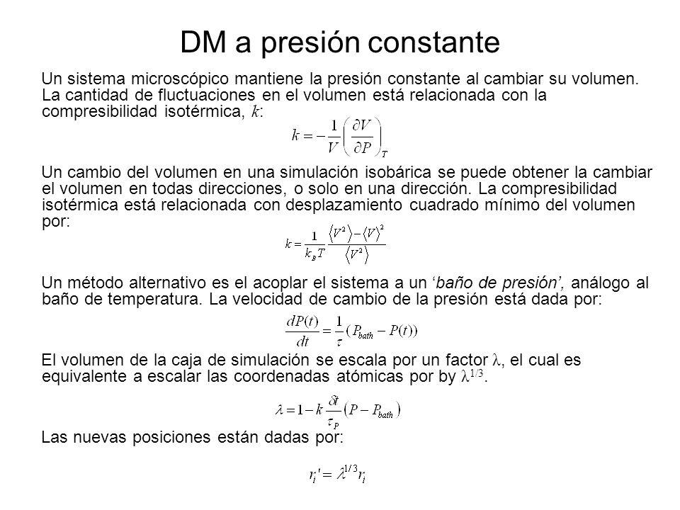 DM a presión constante