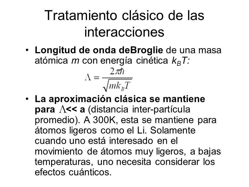 Tratamiento clásico de las interacciones