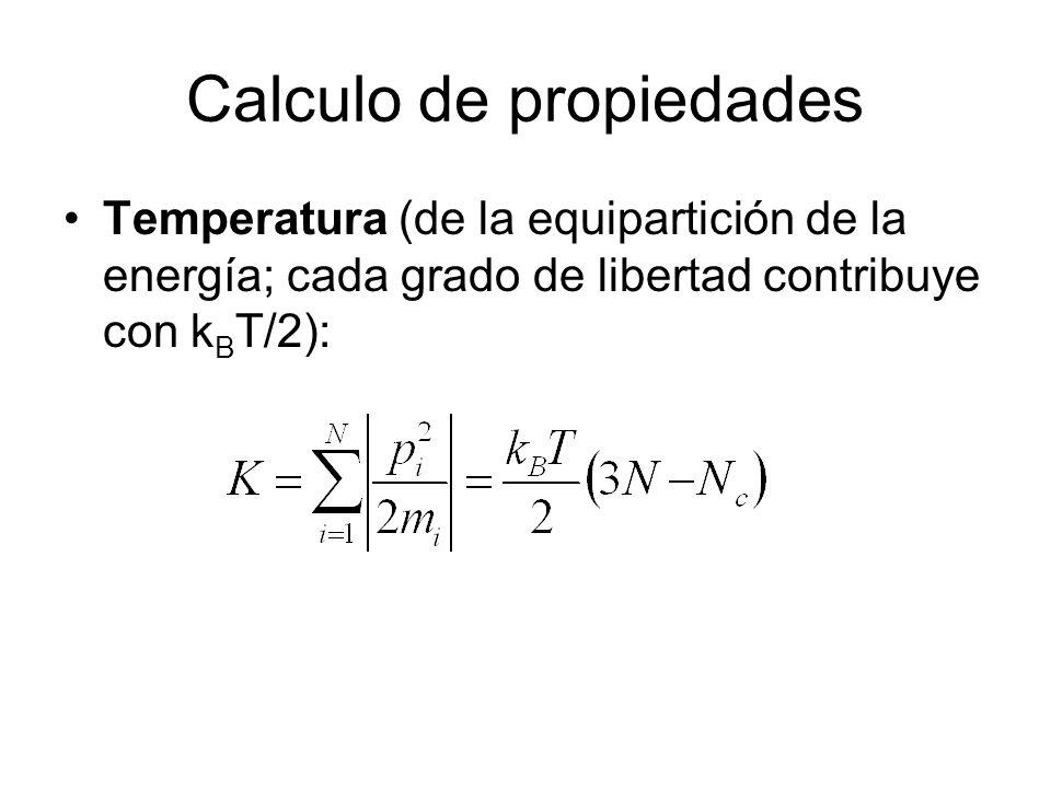 Calculo de propiedades