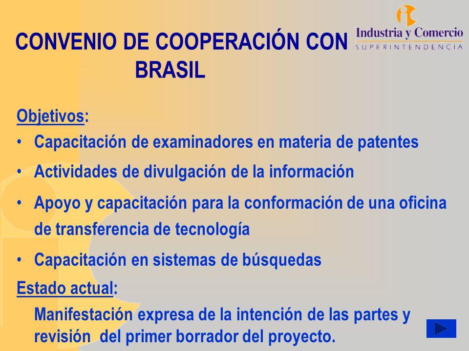 CONVENIO DE COOPERACIÓN CON BRASIL
