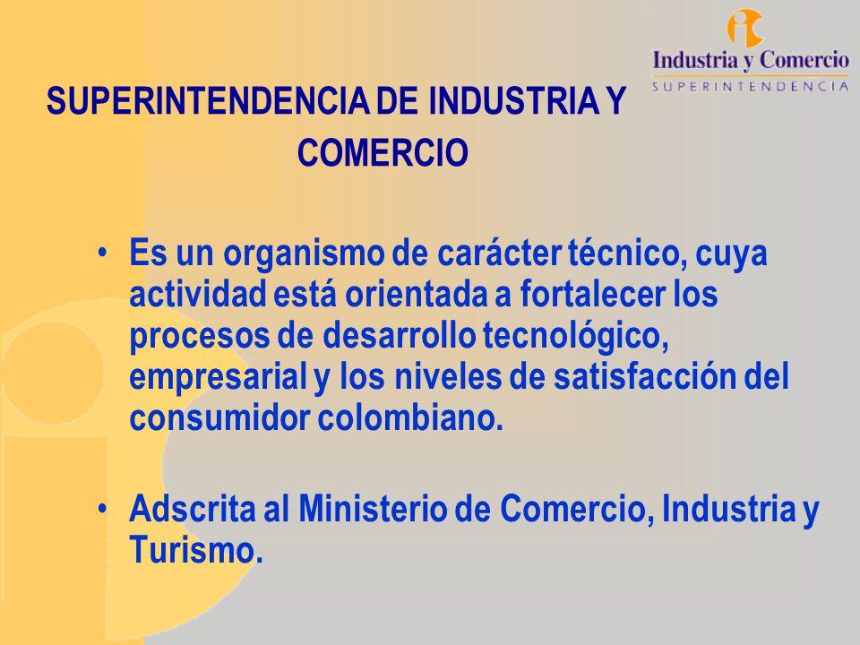 SUPERINTENDENCIA DE INDUSTRIA Y