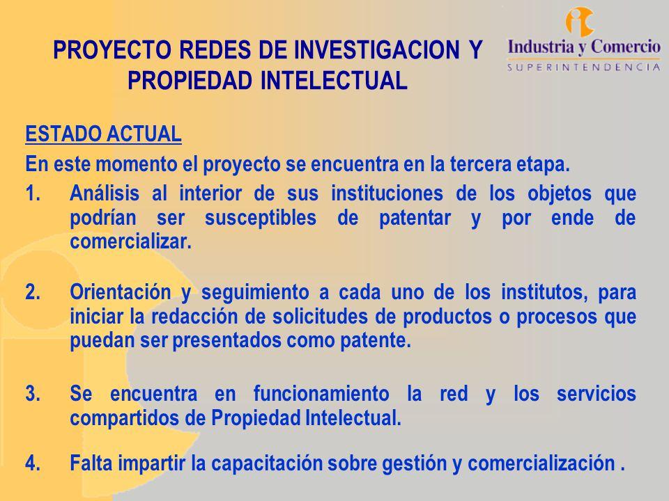 PROYECTO REDES DE INVESTIGACION Y PROPIEDAD INTELECTUAL