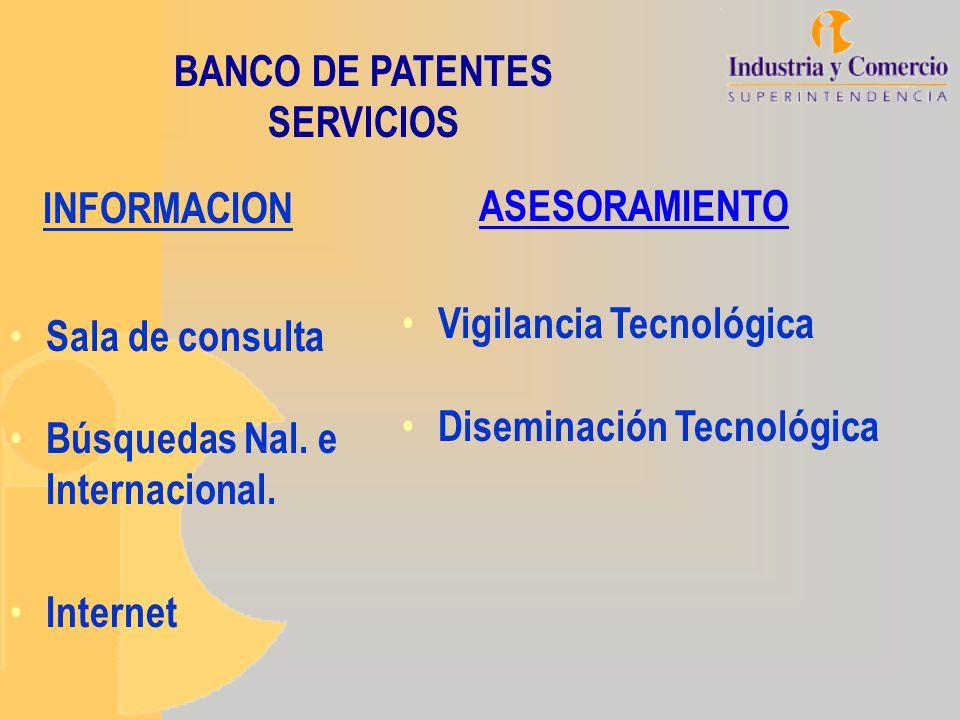 BANCO DE PATENTES SERVICIOS