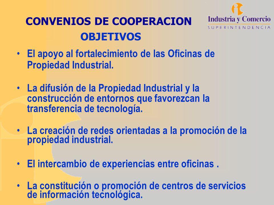 CONVENIOS DE COOPERACION OBJETIVOS