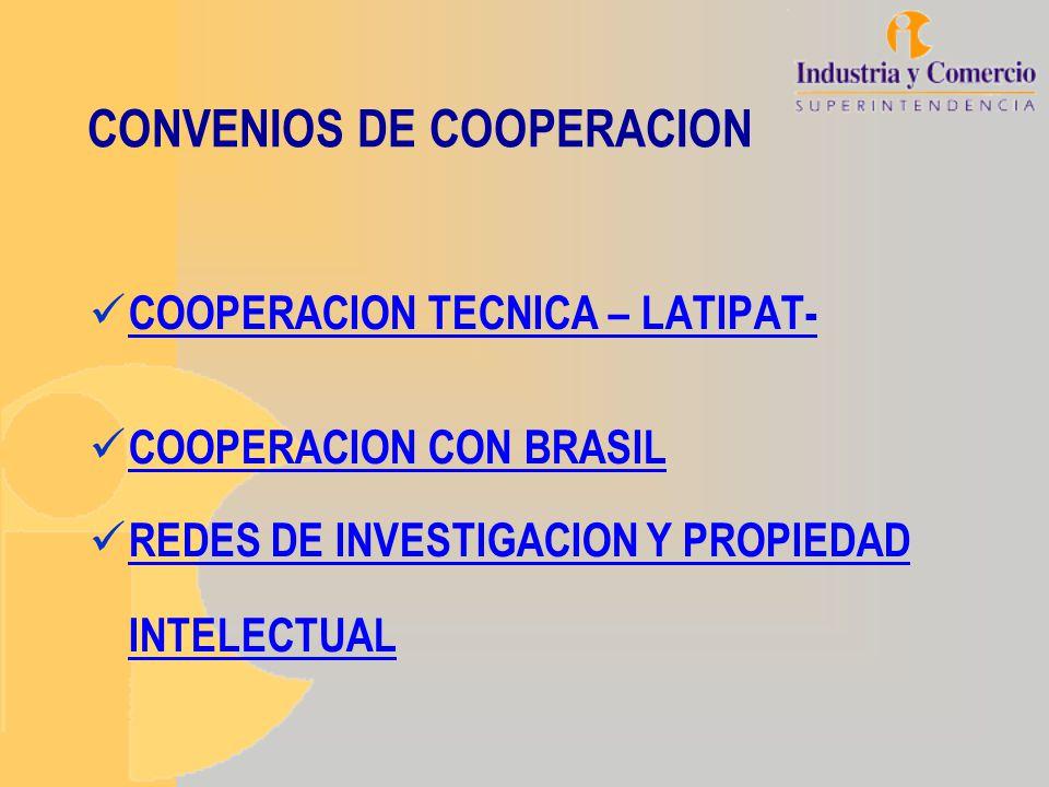 CONVENIOS DE COOPERACION