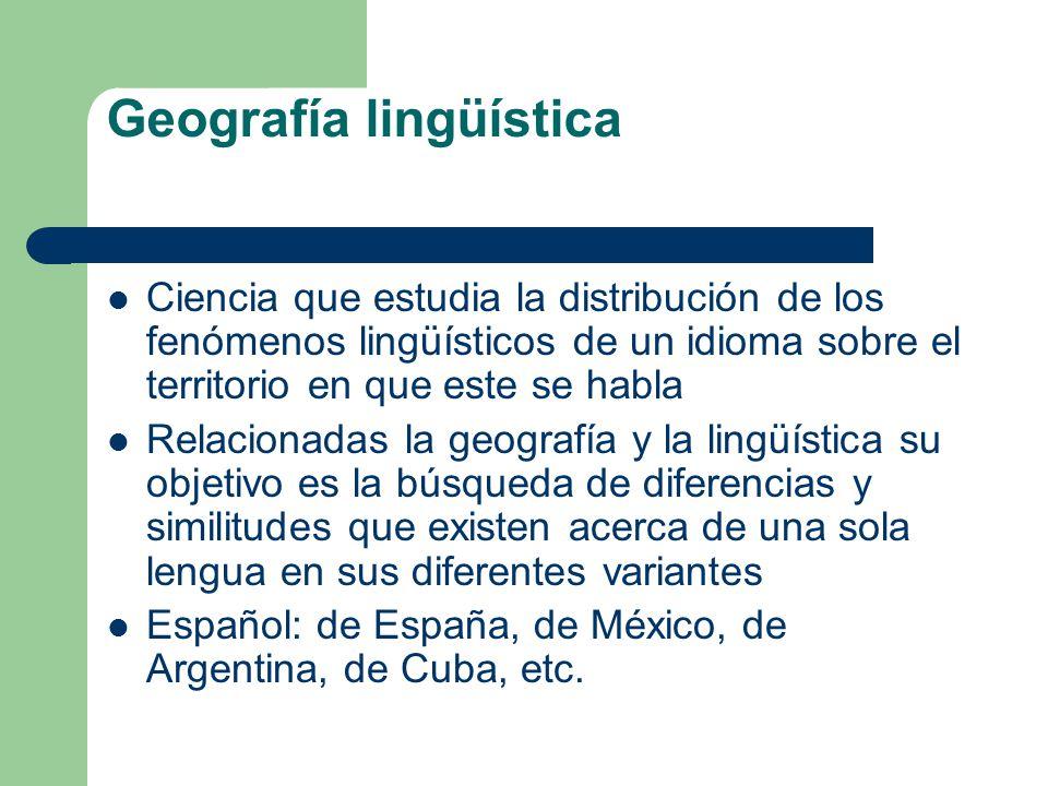 Geografía lingüística