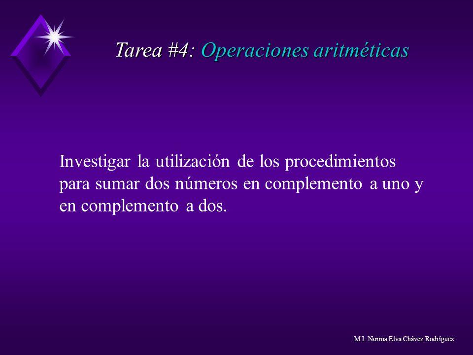 Tarea #4: Operaciones aritméticas