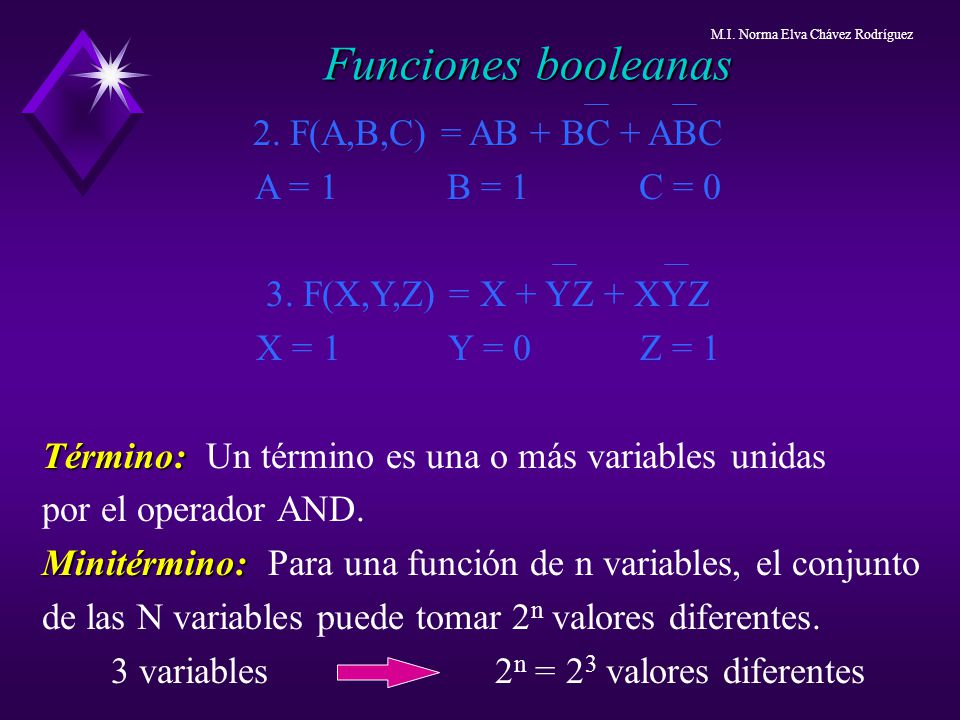 3 variables 2n = 23 valores diferentes