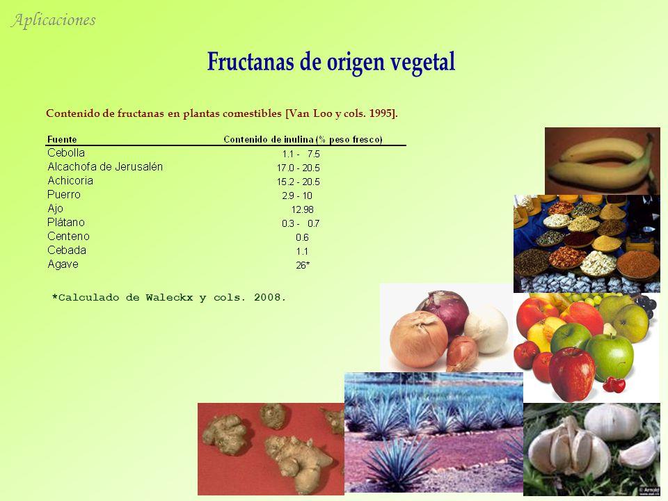 Fructanas de origen vegetal