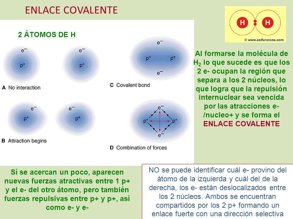 ENLACE COVALENTE 2 ÁTOMOS DE H
