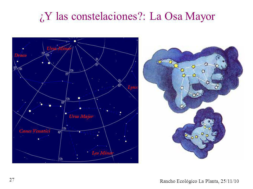 ¿Y las constelaciones : La Osa Mayor