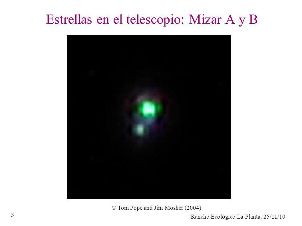 Estrellas en el telescopio: Mizar A y B
