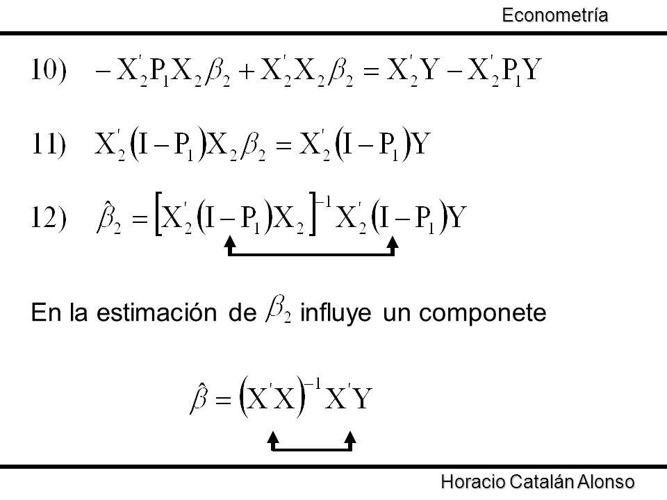 En la estimación de influye un componete