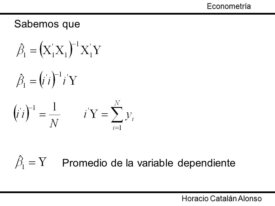 Promedio de la variable dependiente