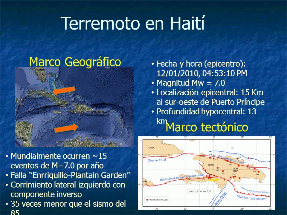 Terremoto en Haití Marco Geográfico Marco tectónico