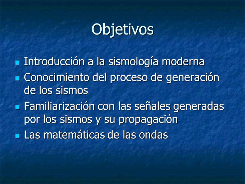 Objetivos Introducción a la sismología moderna