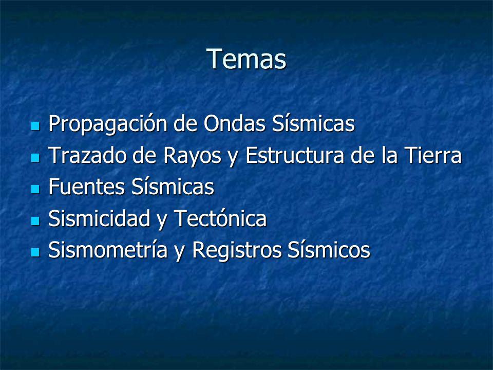 Temas Propagación de Ondas Sísmicas