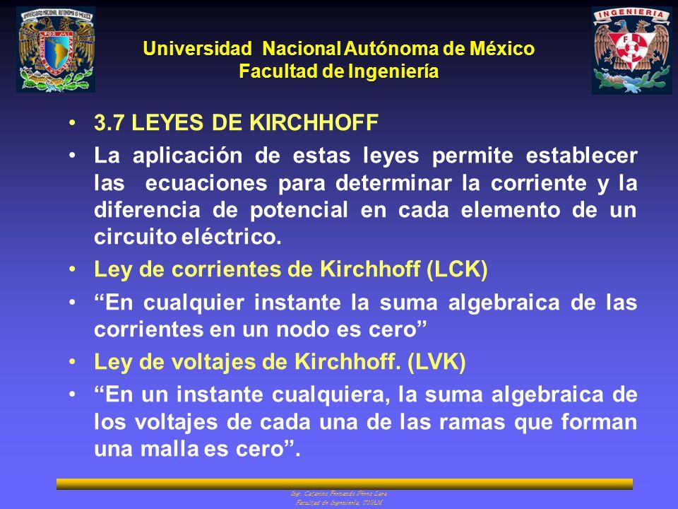 3.7 LEYES DE KIRCHHOFF
