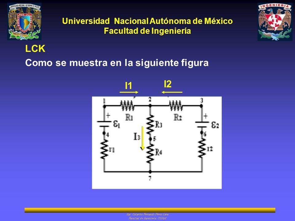 LCK Como se muestra en la siguiente figura I1 I2