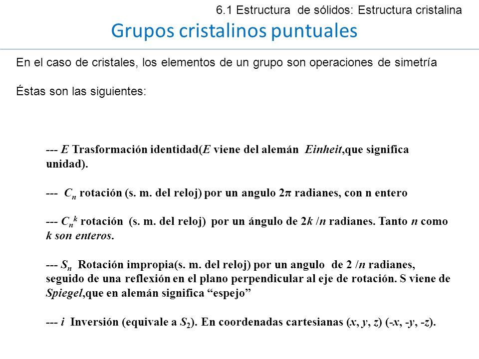 Grupos cristalinos puntuales